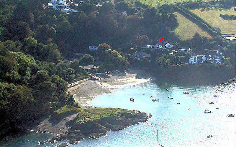 Location for Chymor Cottage Helford Cornwall