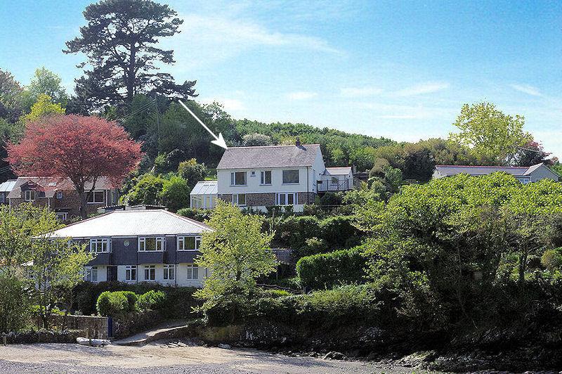 Chymor location - self catering Gillan Creek Cornwall