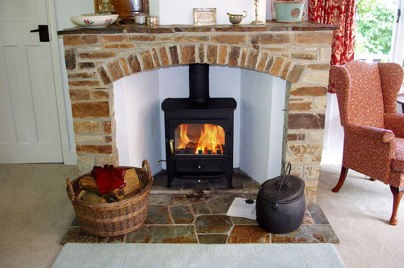 Curlew Cottage fireplace