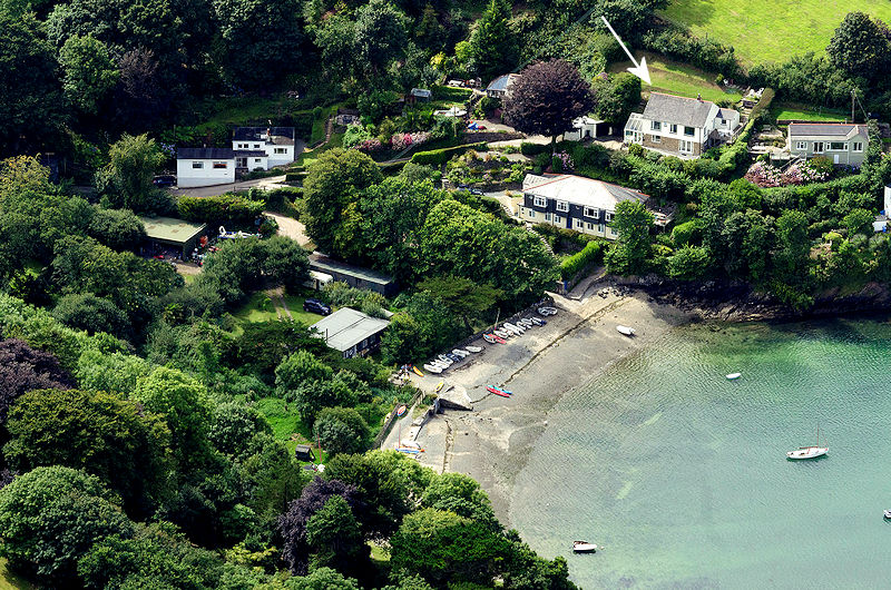 Chy Mor Gillan Cornwall - from the air