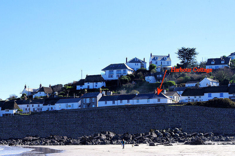 Harbour Cottage Coverack - from the beach