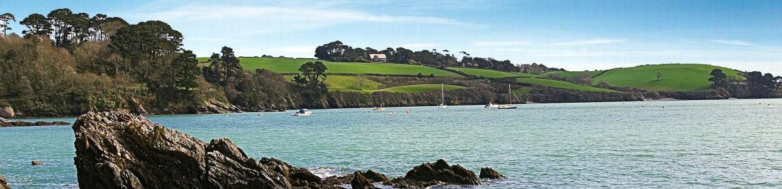 The beach at Trebah Gardens in Cornwall