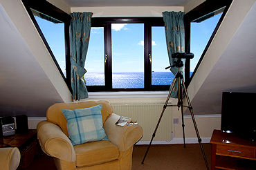 Telescope view over the sea