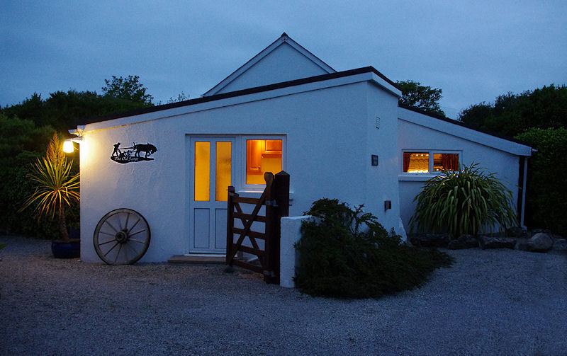 The Old Forge Coverack at night