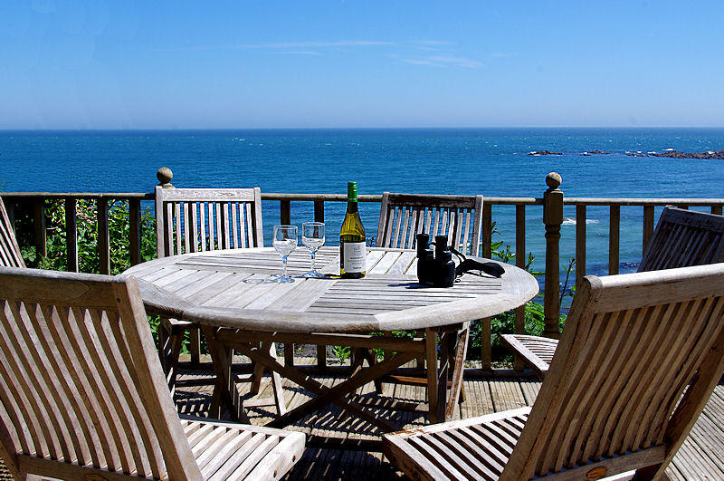 Prospect Cottage Coverack - view from the decking