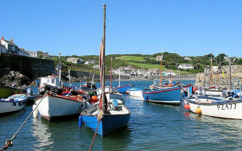 Coverack fishing boats