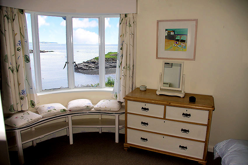 Self Catering Cottage Cornwall - window seat with views over the sea