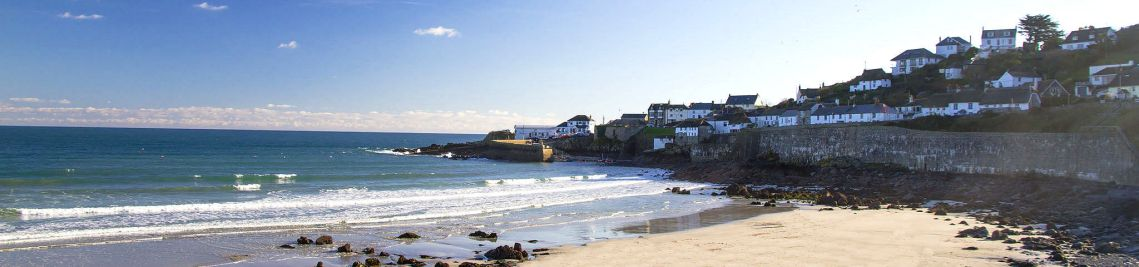 Coverack Cornwall - view towards the Harbour
