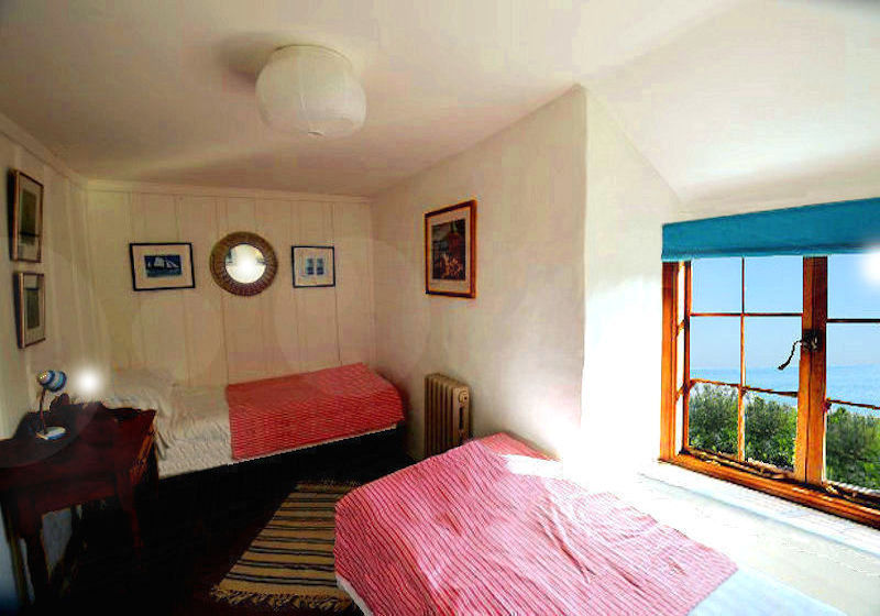 Sunnyside Cottage - sea view from the bedroom - self catering Cornwall