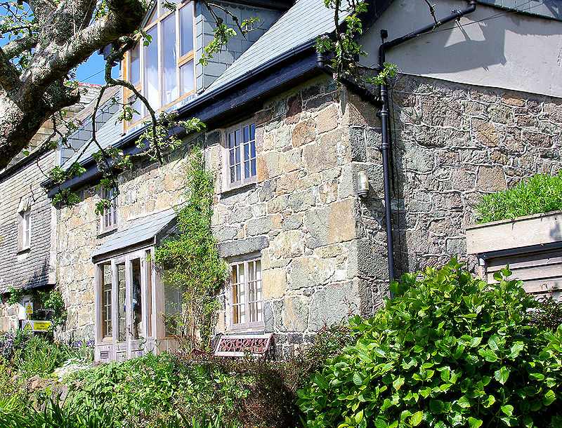 Stone fronted cottage cornwall