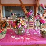 Compositions poétiques florales en coeur