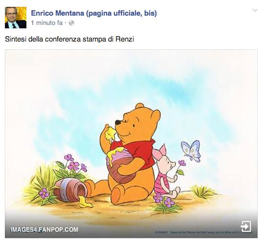 Mentana-Renzi-Winnie-Poo
