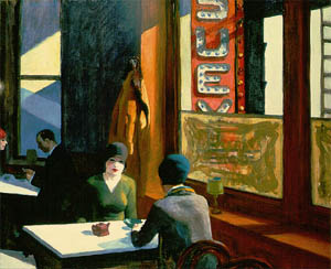 "Chop Suey, Edward Hopper, 1929. La miniatura è disponibile per ""fair use"""