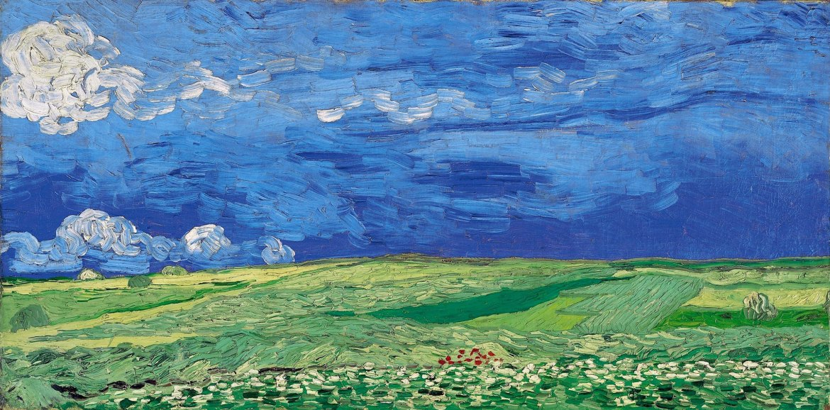 Wheatfield under Thunderclouds, 1890, Vincent van Gogh