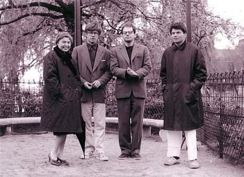 Fernanda Pivano con Orlovsky, Ginsberg, Corso (Parigi 1961)