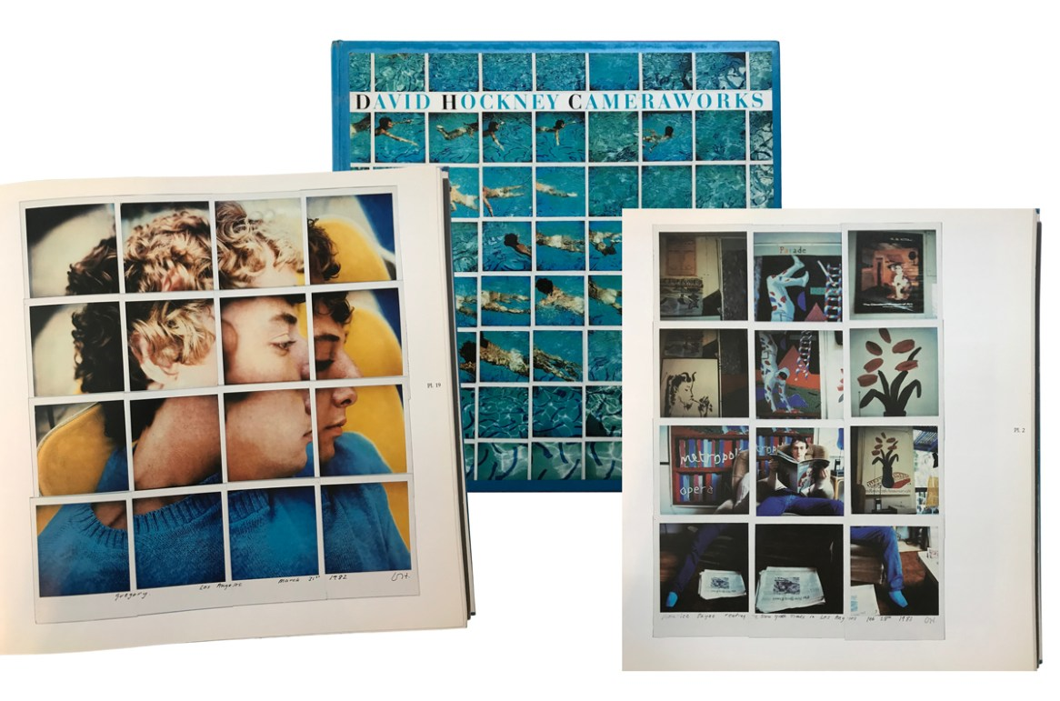 Collage di fotografie dal libro David Hockney Camera Works