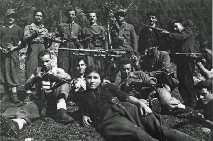 Rosi Romelli e il gruppo partigiano