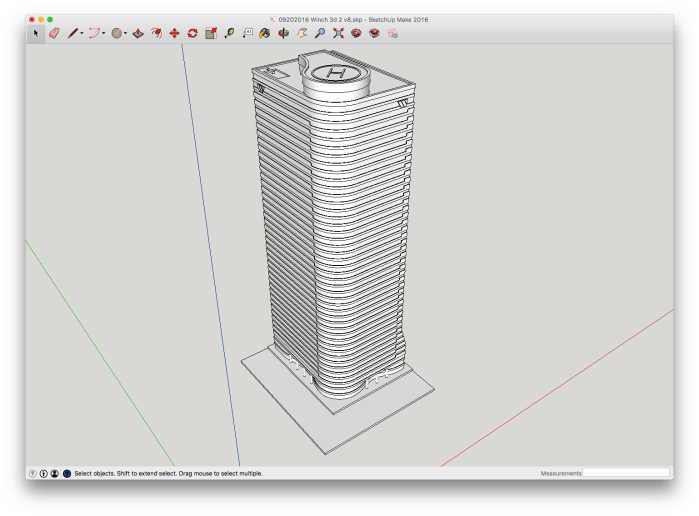 Winch Tower in SketchUp