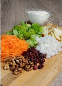 Broccoli & Rice Salad-ingredients