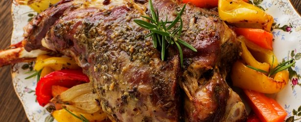 Mustard Glazed Leg of Lamb-link