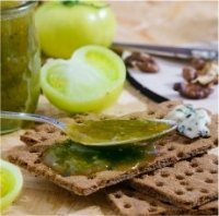 Amazing Crispbread & Flatbread toppings-green tomato relish