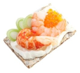 Amazing Crispbread & Flatbread toppings-shrimp crab and caviar