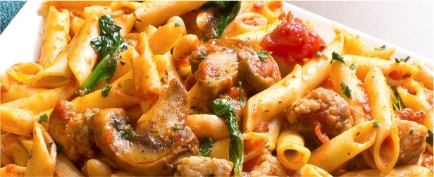 Penne Nostra with Sausage & Mushrooms-link