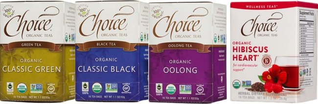 Choice Organic Tea-Feb 2017 Monthly-varieties