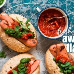 Spicy Bell Pepper and Chimichurri Sauce Hot Dog Topping-slider