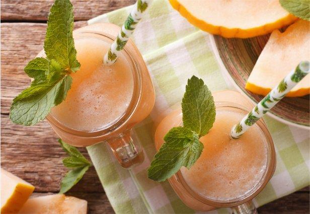 Cantaloupe Mint Smoothie
