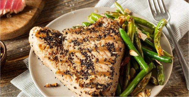 Grilled Sesame Tuna Steak