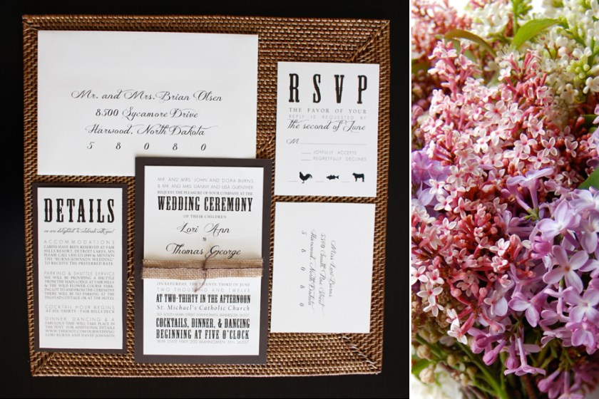 Rustic Elegance Collection Fargo Wedding Invitations