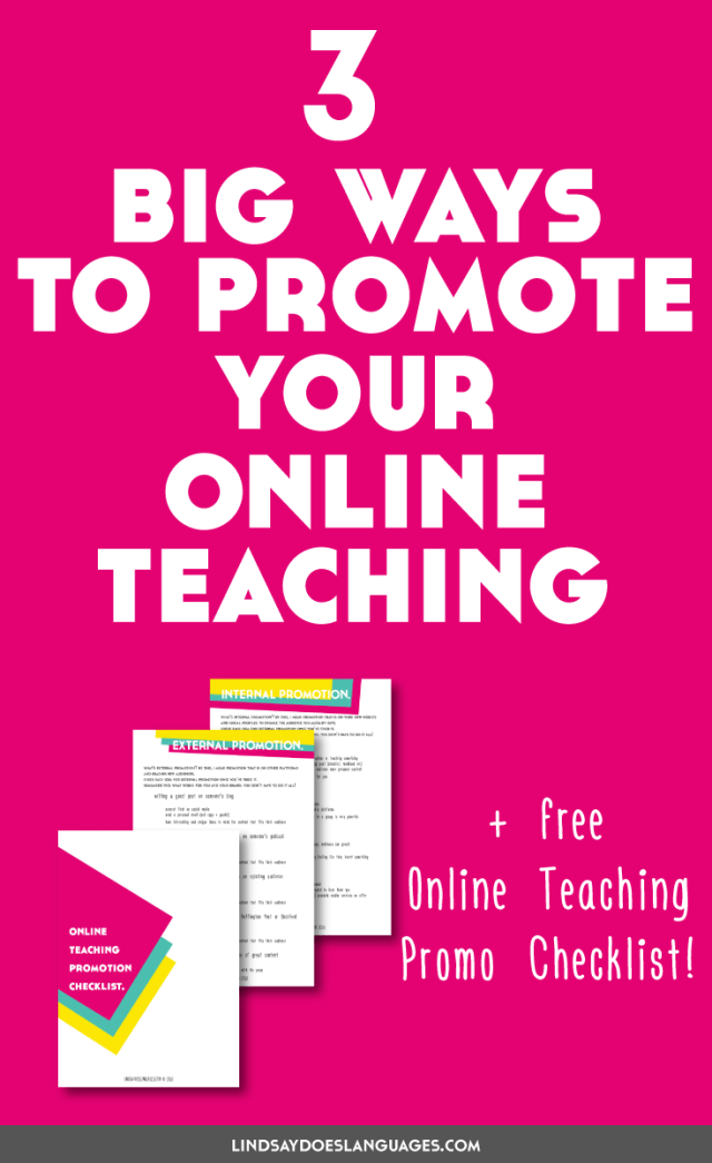 You've got your resources ready, your website looking good, and you've maybe even got your first students. Now what? Time to promote your online teaching. Click through to get your checklist! >>