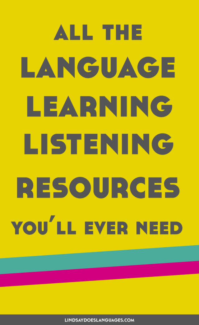 Speaking is important when learning a language, but speaking is pretty much 50% listening. So listening is just as important! Here's all the language learning listening resources you'll ever need.