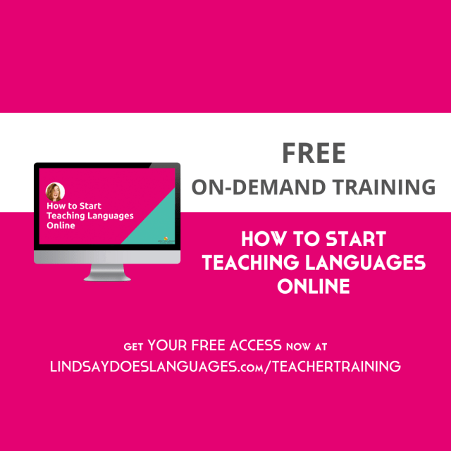 Free On Demand Training How to Start Teaching Languages Online