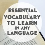 The Essential Vocabulary to Learn in Any Language (Your First 200 Words…ish!)