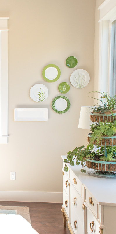 dining room plate wall-3145