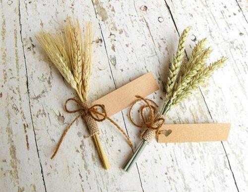 wheat bundle place card holder