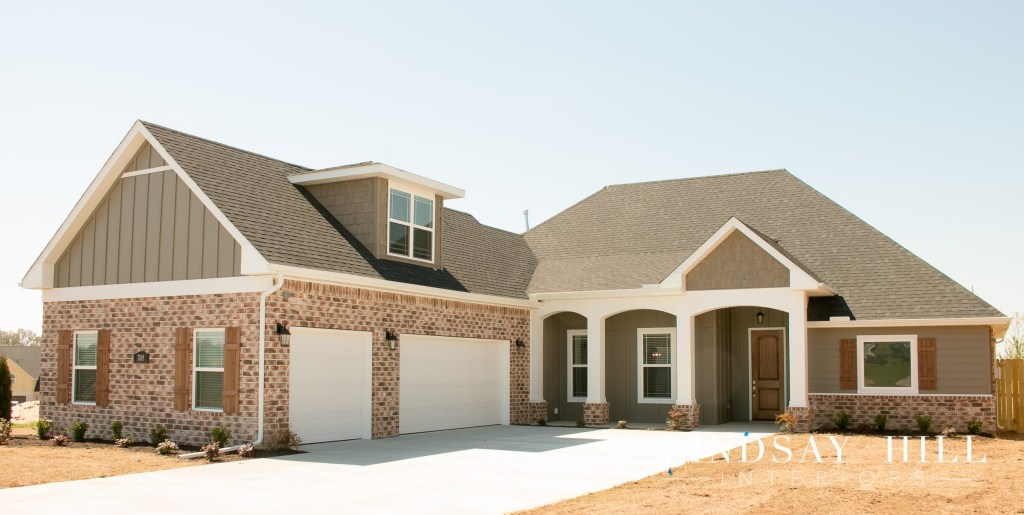 add curb appeal to a builder's tract home