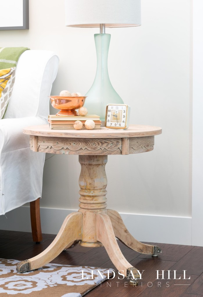to paint or not to paint entryway end table
