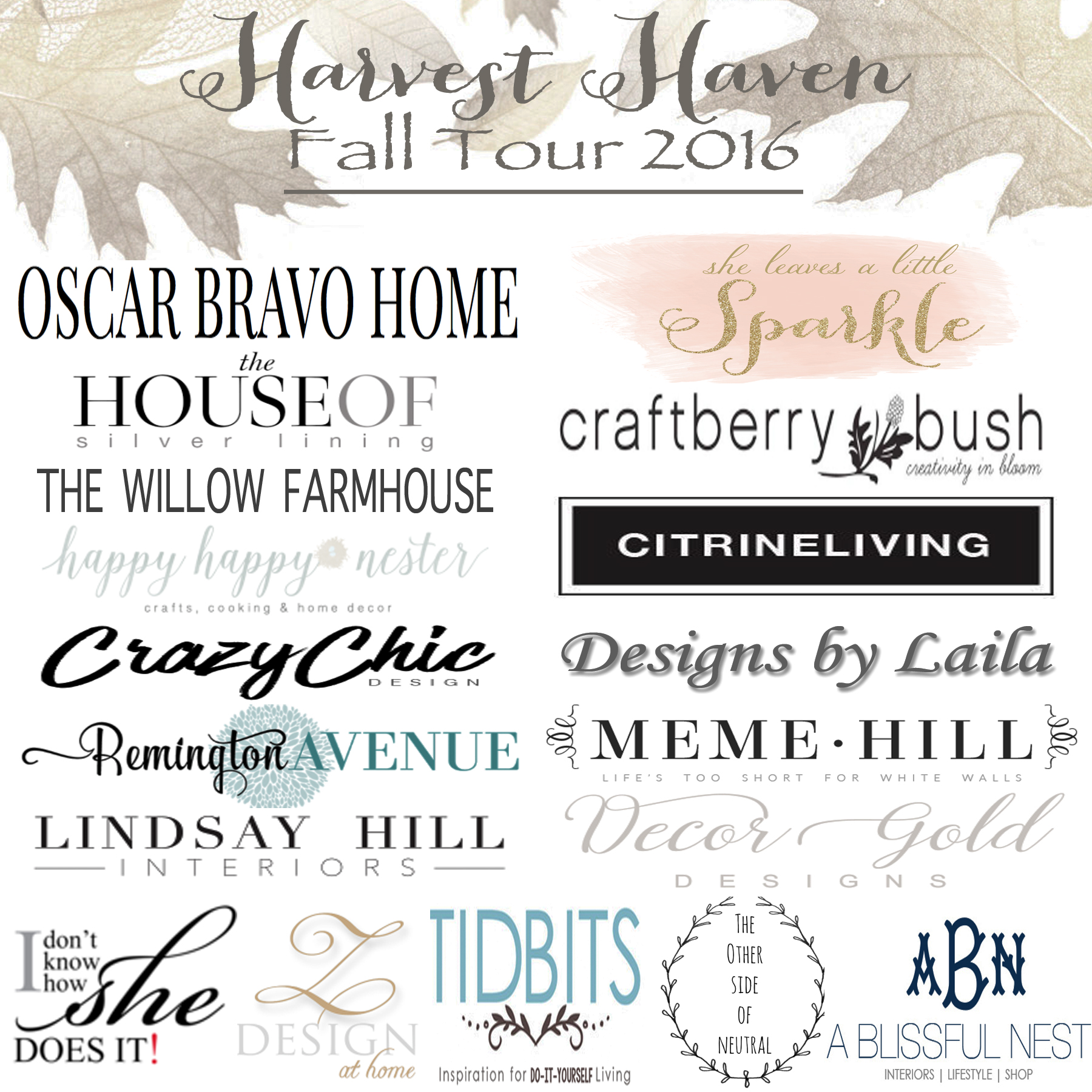 Harvest Haven Fall Tour 2016 Lindsay Hill Interiors
