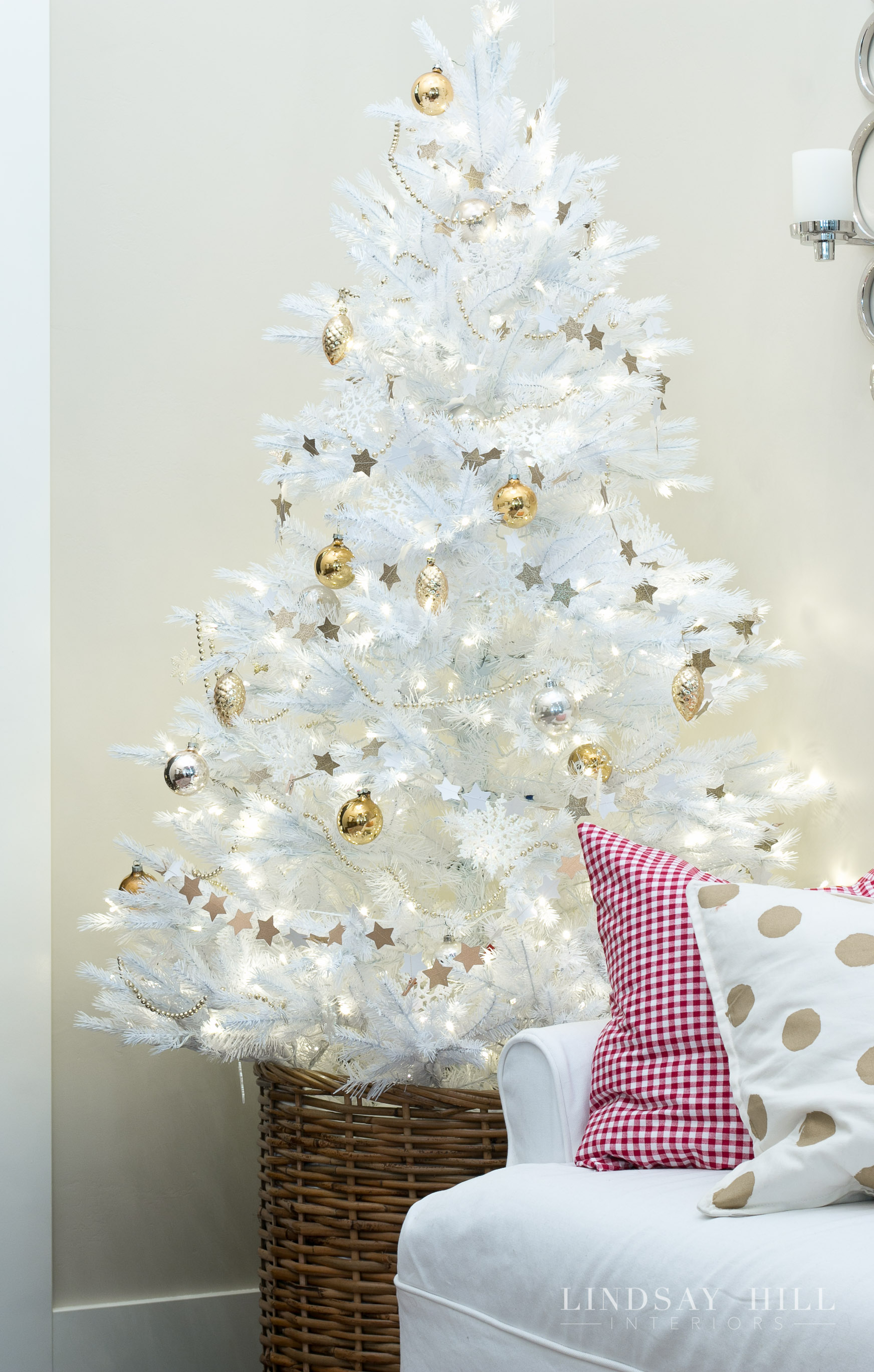lindsay hill interiors holiday white christmas tree