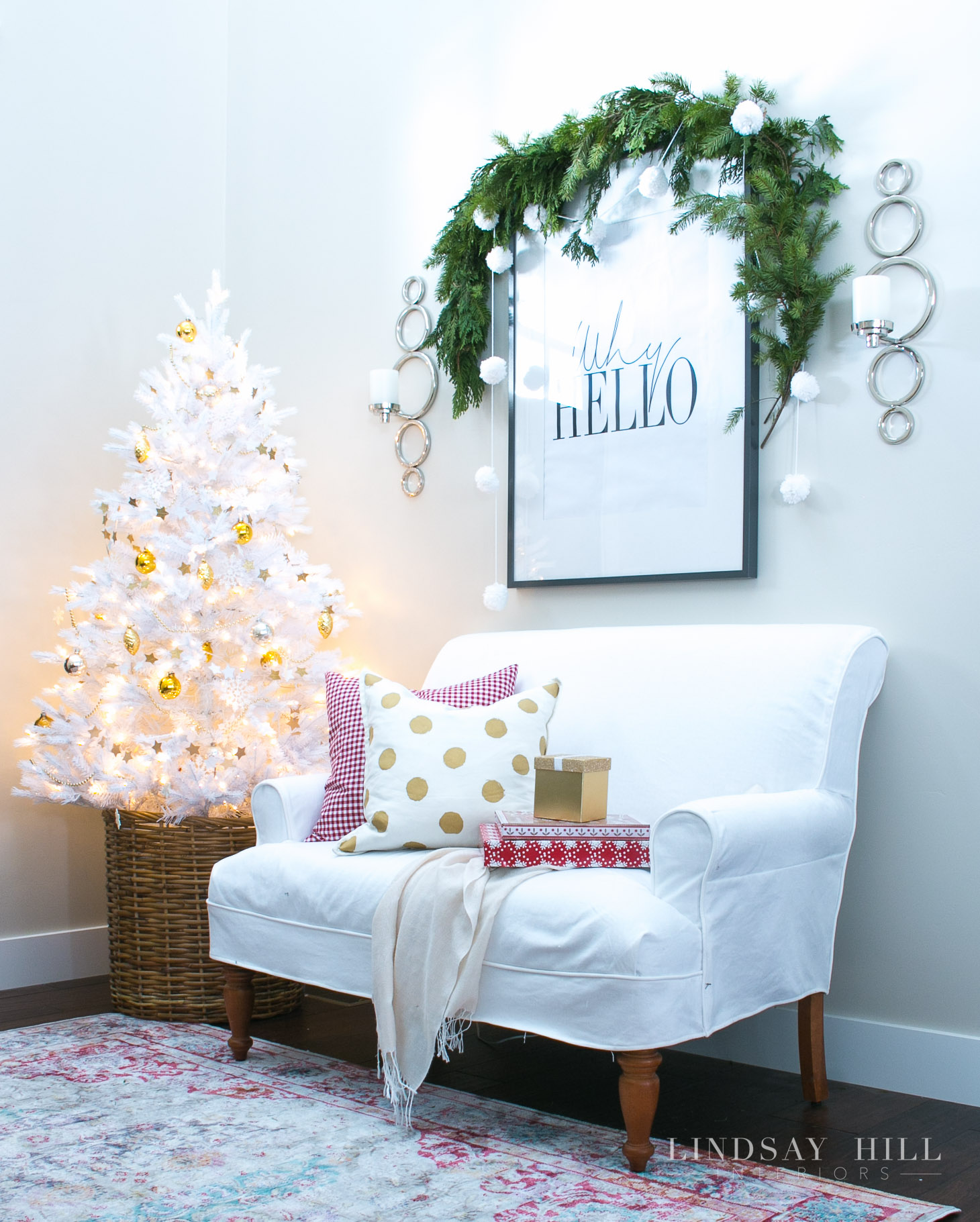 lindsay hill interiors holiday entryway