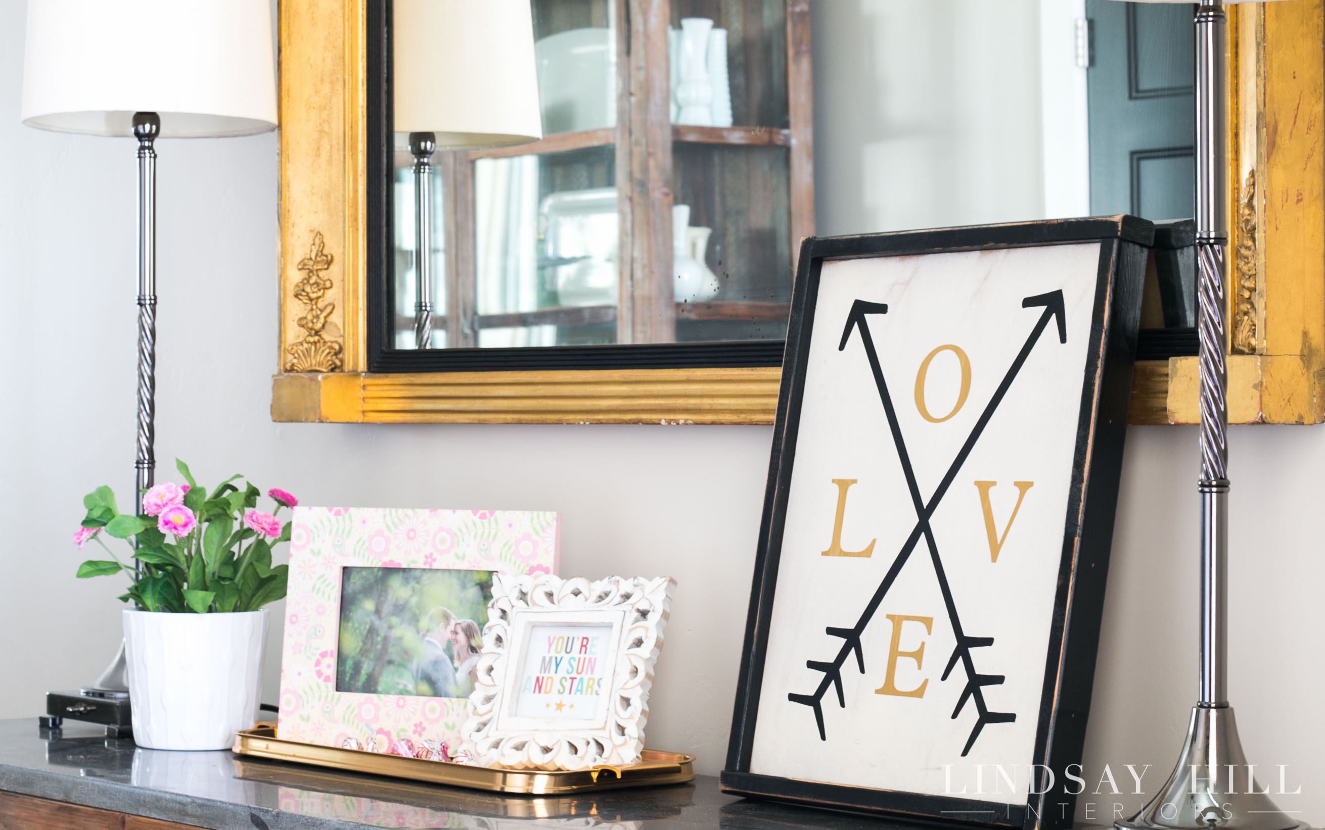 lindsay hill interiors simple valentine's day decor entry