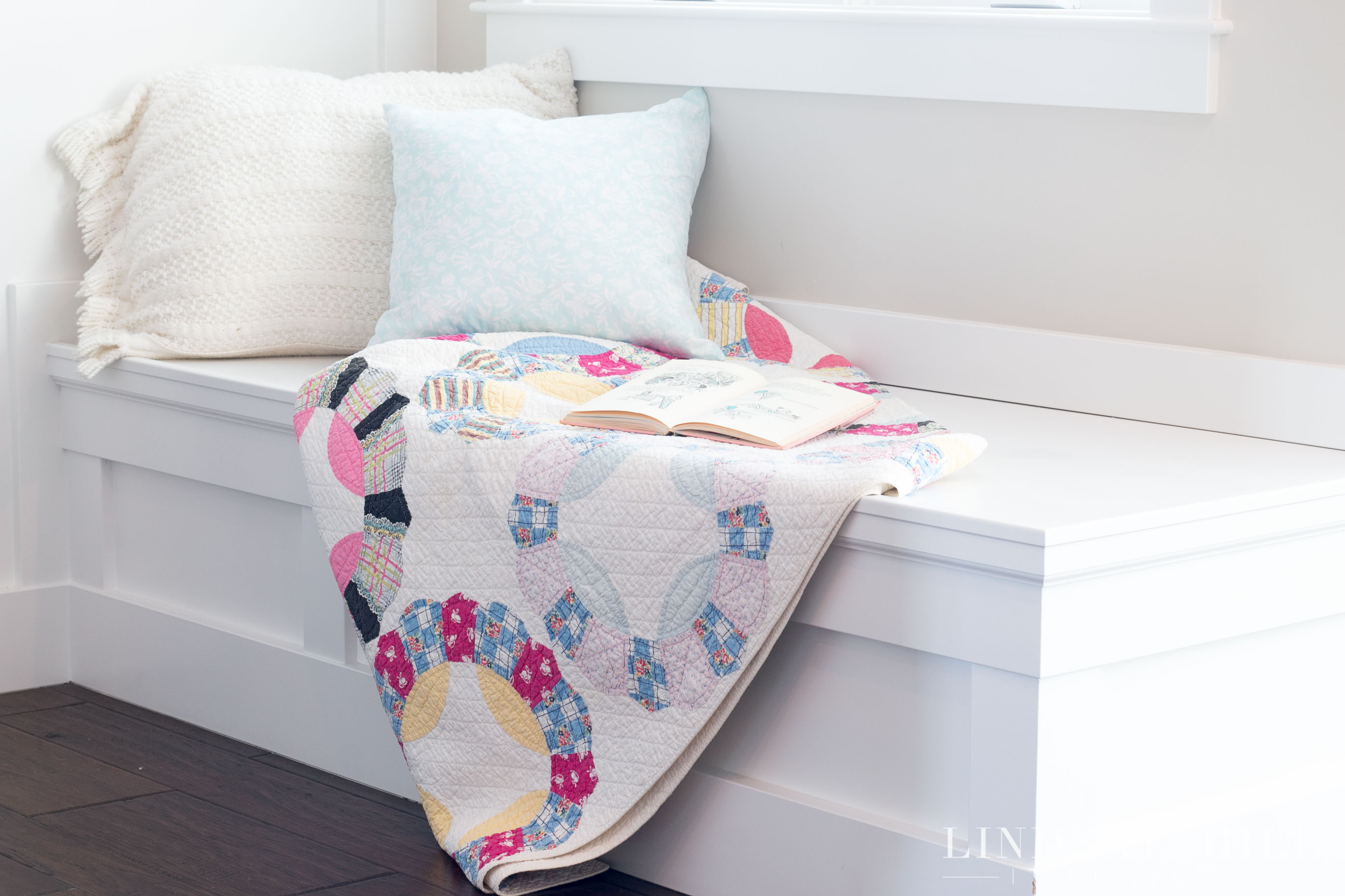 lindsay hill interiors simple valentine's day decor window seat