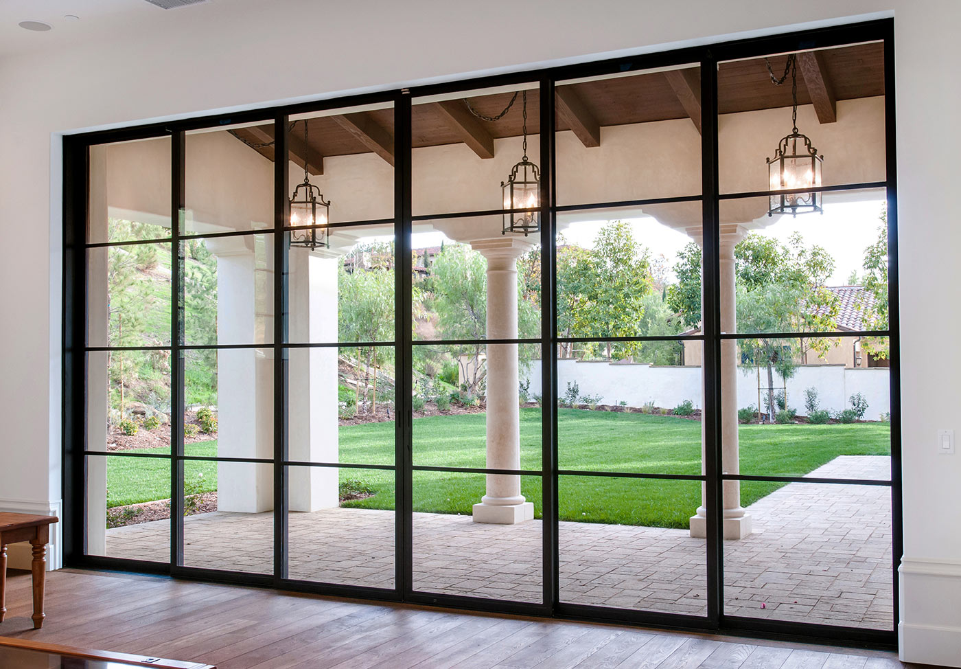 steel patio windows