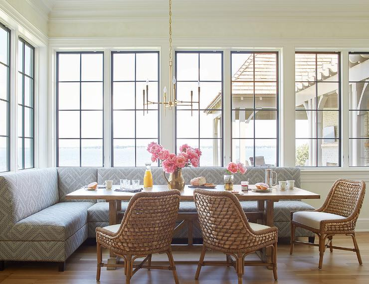 Dining Room Seating - Banquette or Upholstered Settee? - Lindsay ...