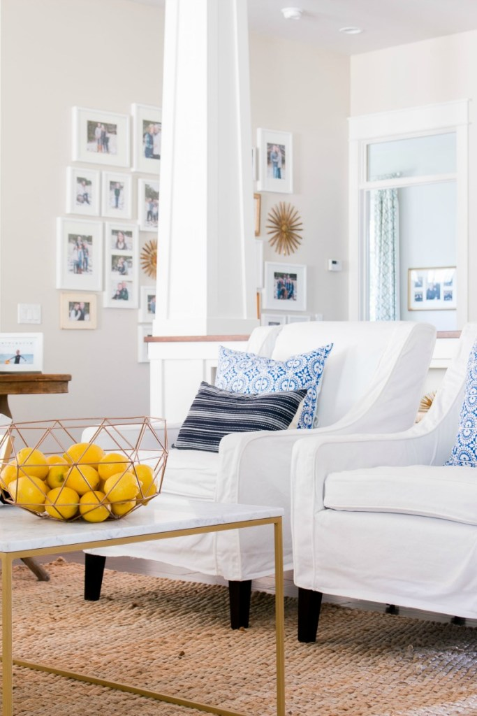 Lindsay Hill Interiors summer home tour living room