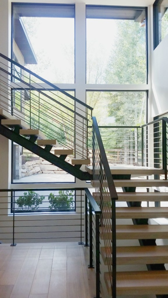 design trend metal stair rails