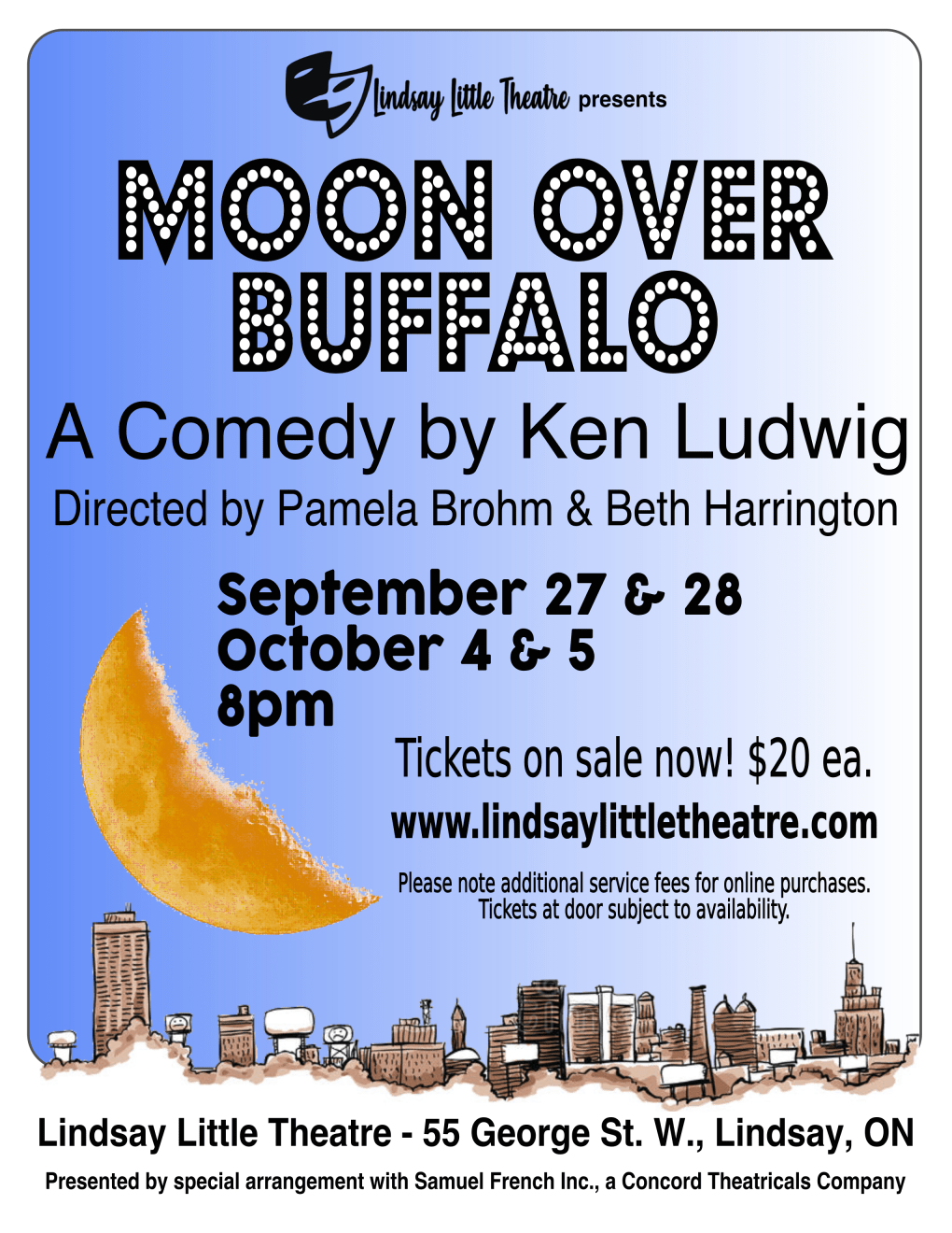Moon Over Buffalo LLT 2019 Poster